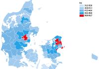 A-indkomst pr.kommune, Graf: Danmarks Statistik