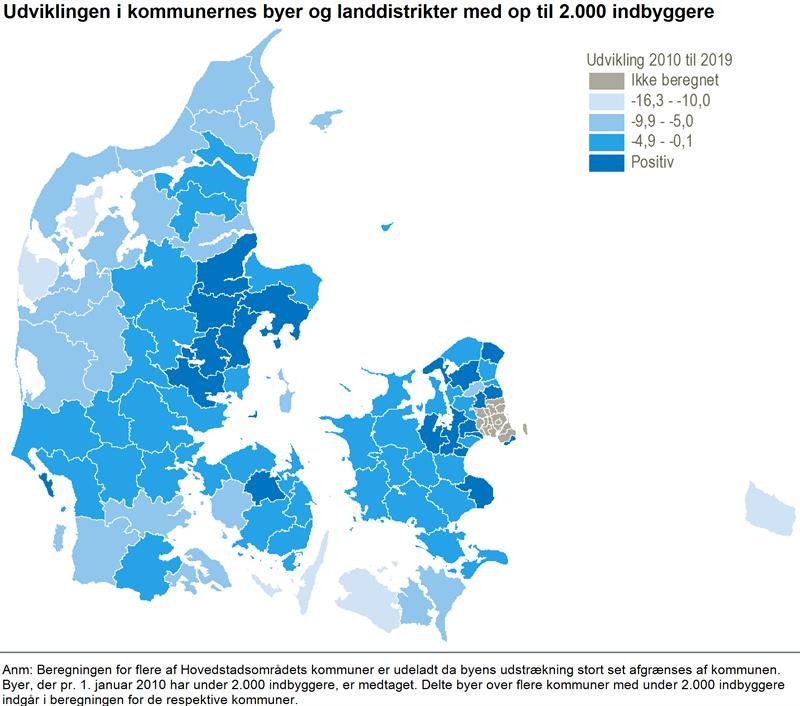 FALDENDE FOLKETAL I DE SMÅ BYER OG LANDDISTRIKTER