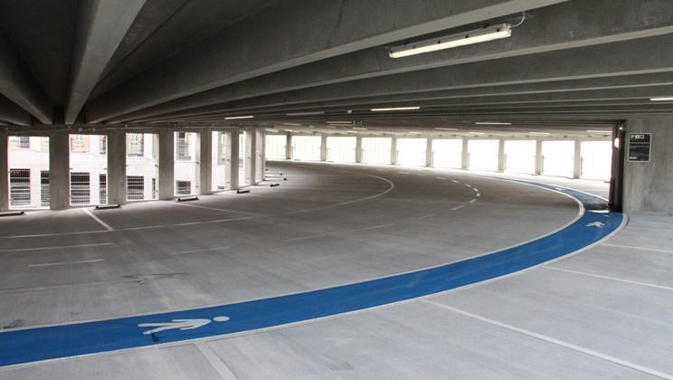 408 nye parkeringspladser klar ved Vejle Sygehus