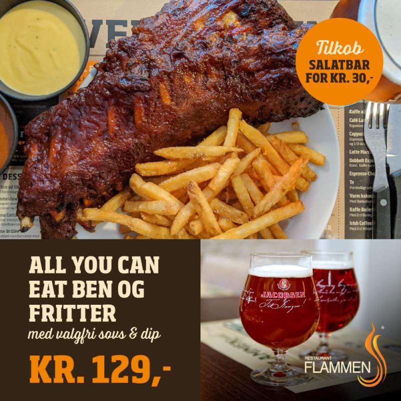 Spis dig mæt hos Flammen for 129 kr.